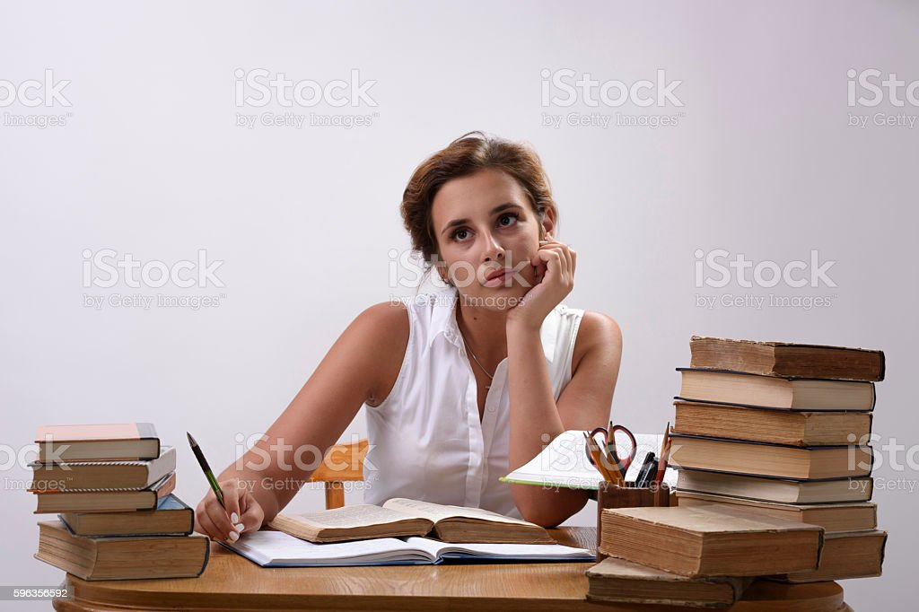 Student is dreaming royalty-free stock photo