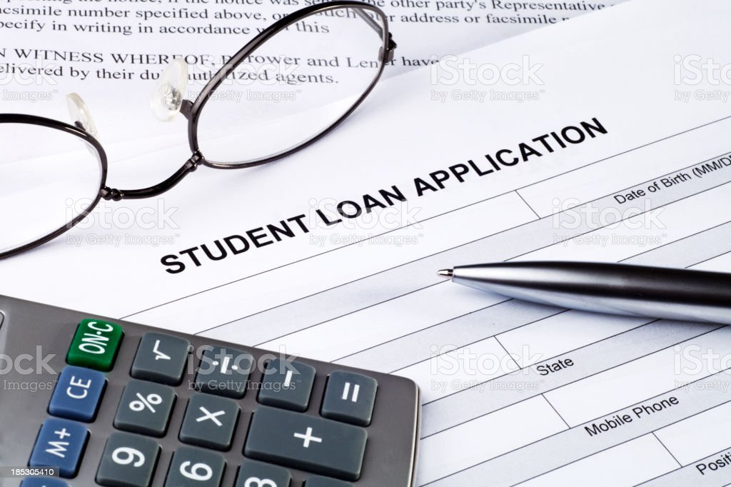 Student Loan Application stock photo