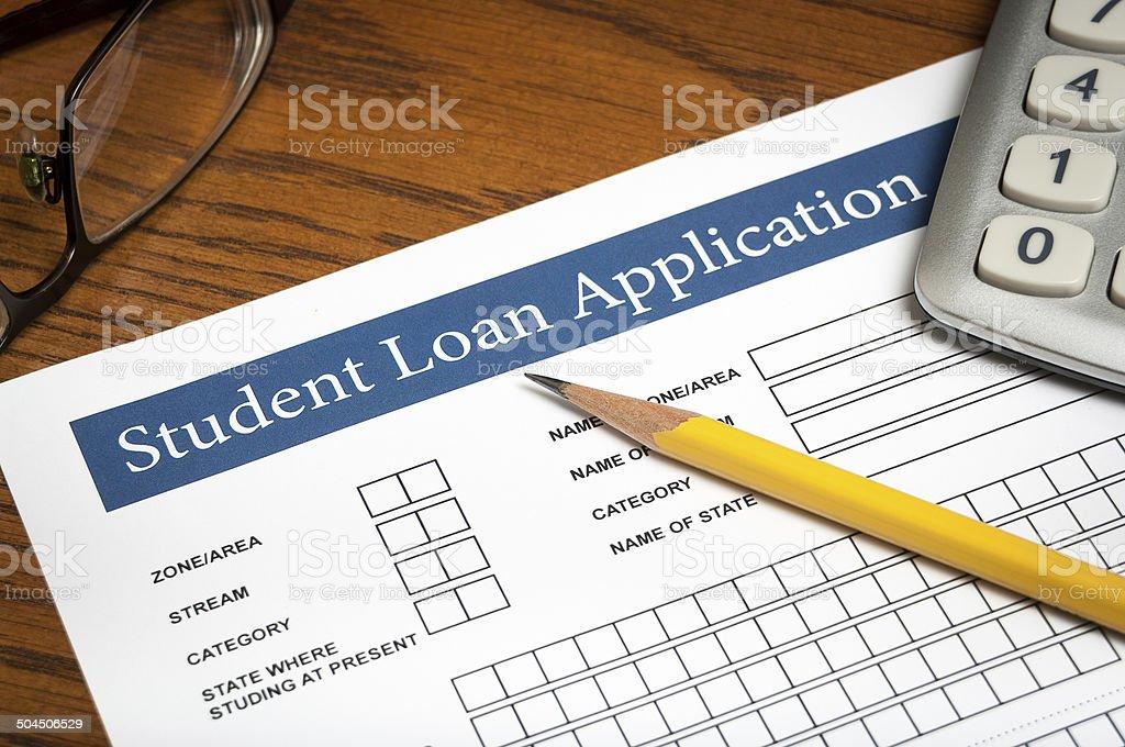 Student loan application stock photo