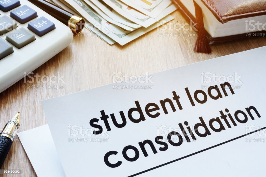 Student Loan Consolidation >> Student Loan Consolidation Form On A Desk Stock Photo