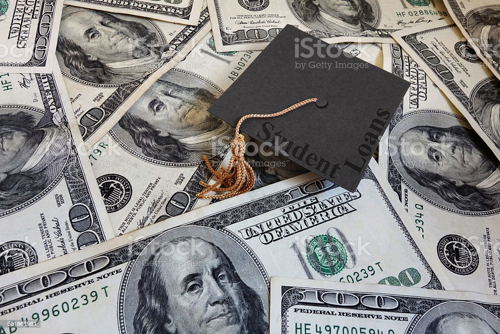 Student loan payments stock photo