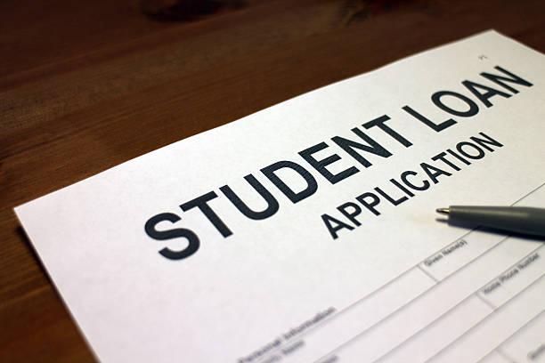 student loan - kindergeldantrag stock-fotos und bilder