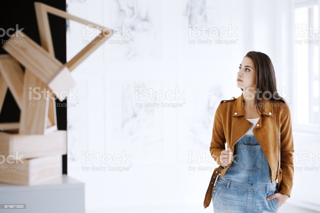 Student of art royalty-free stock photo