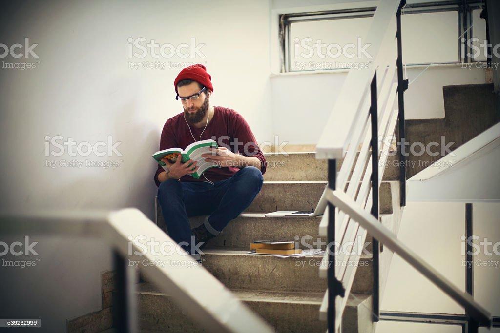 Student on break. royalty-free stock photo