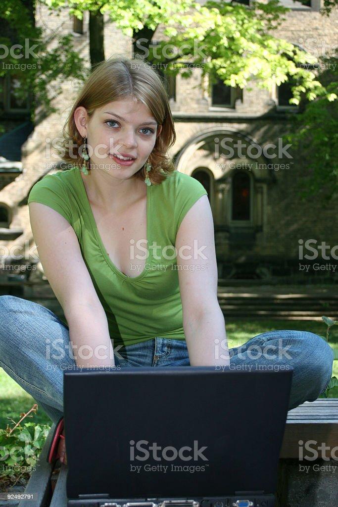 Student on Laptop royalty-free stock photo