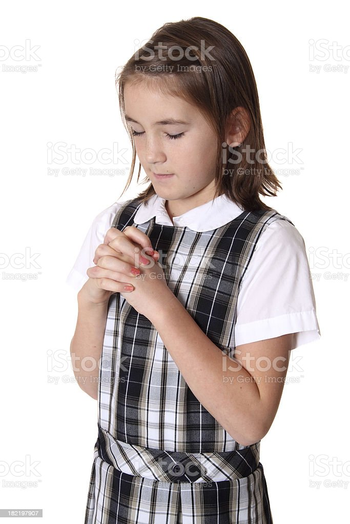 Student Praying stock photo