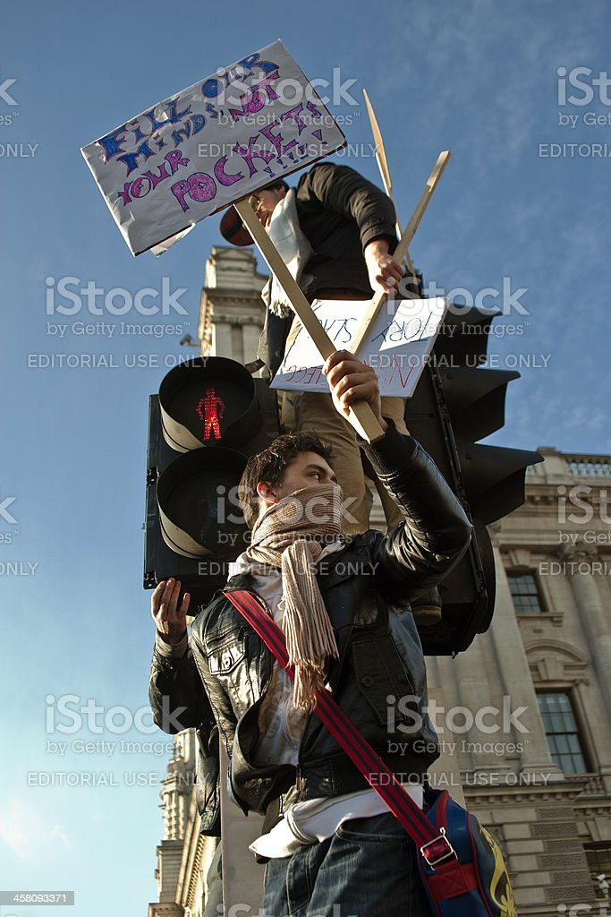 Student Protests London 9/12/2010 stock photo