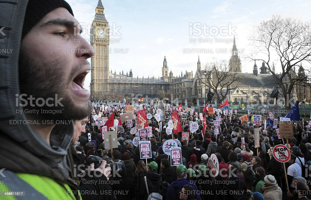 Student Protests, London. royalty-free stock photo