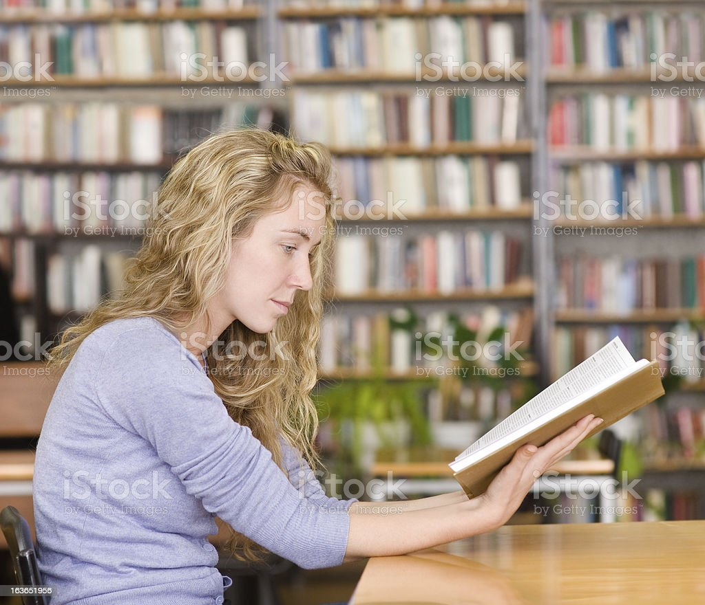 student reads the book royalty-free stock photo