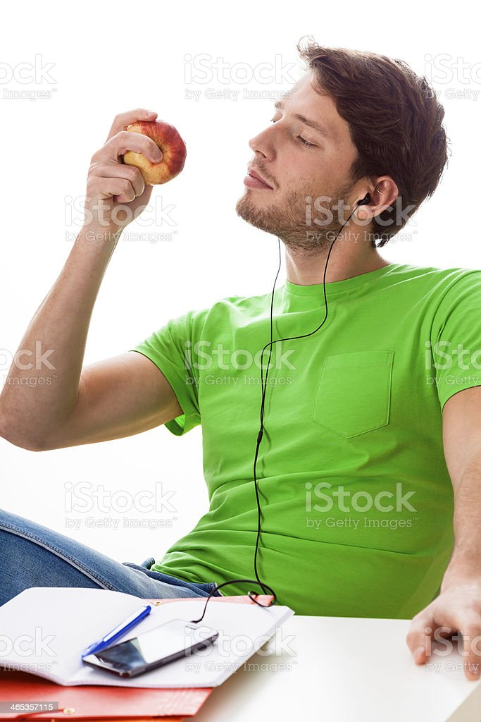 Student relaxing during the studying royalty-free stock photo
