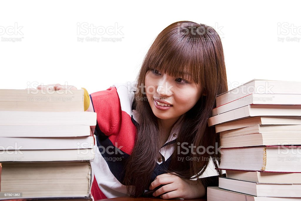 student searching books royalty-free stock photo