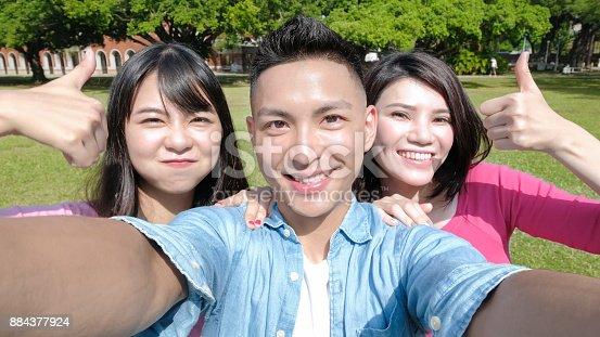 644191686 istock photo student selfie happily 884377924