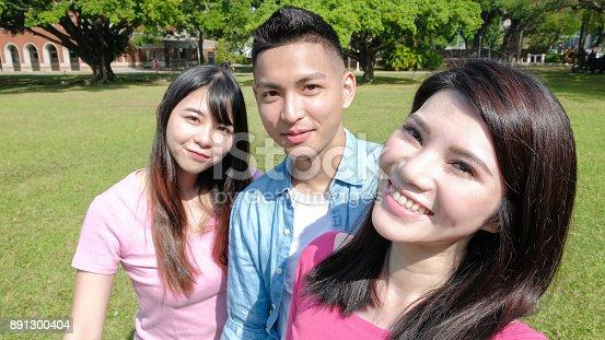 644191686 istock photo student selfie happily 891300404