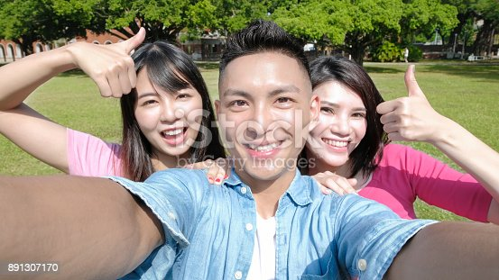 644191686 istock photo student selfie happily 891307170