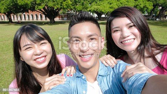 644191686 istock photo student selfie happily 891367464