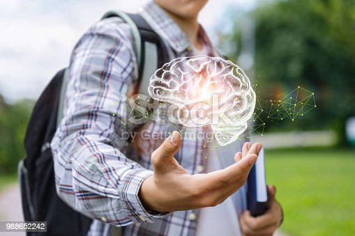 istock Student shows the brain . 988652242