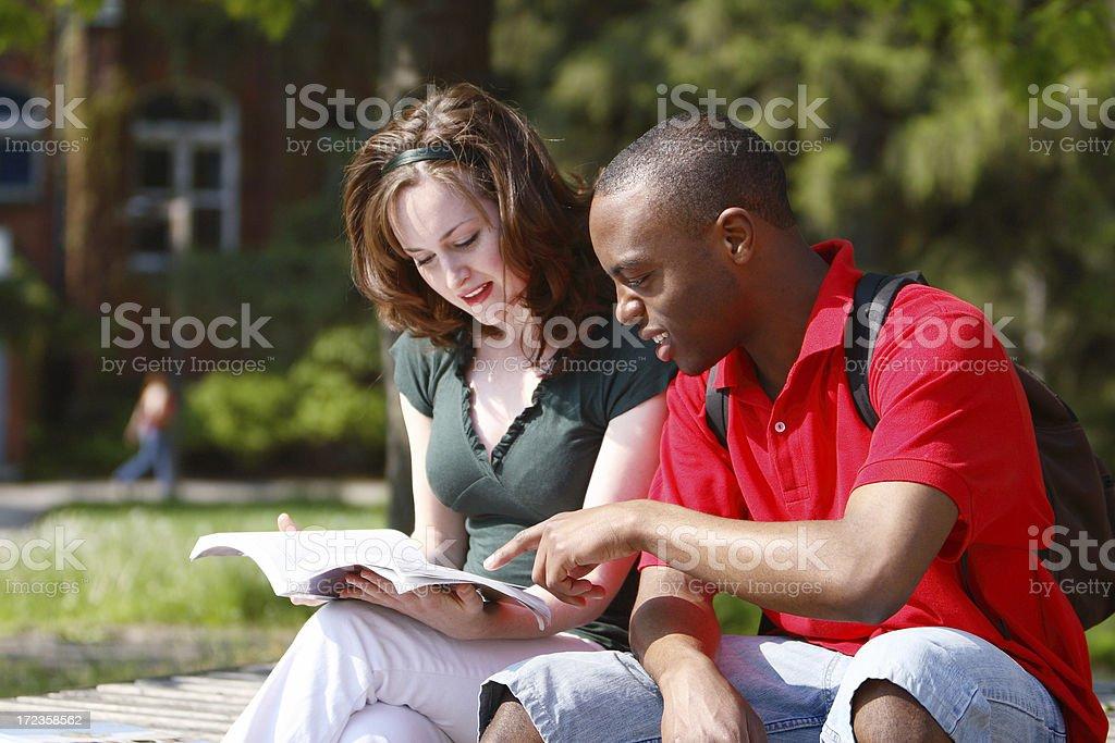 Student Study Help royalty-free stock photo