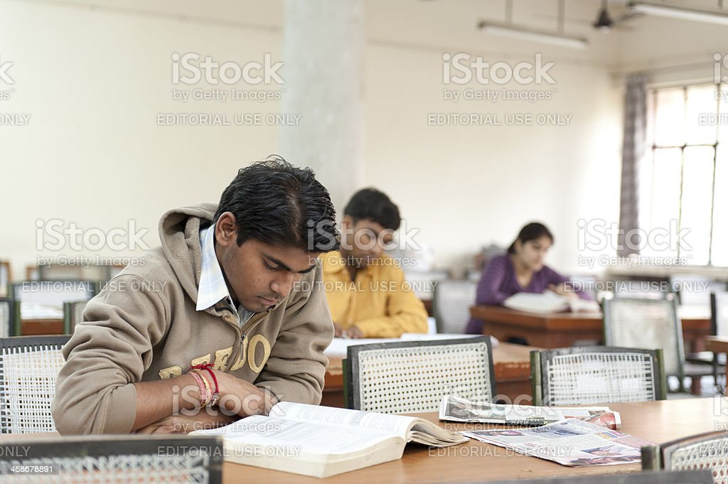 Student studying at an Indian University stock photo