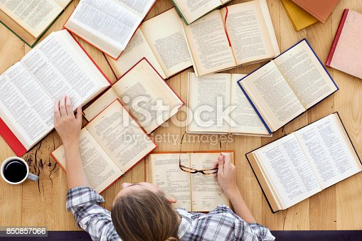 istock Student studying on the table 850857066