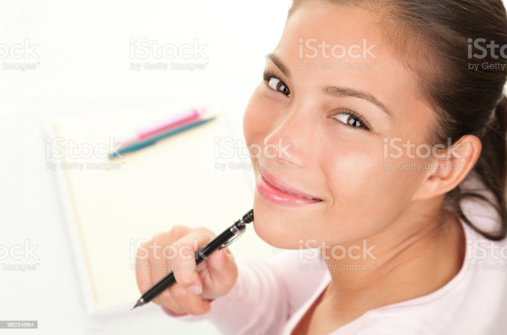 Student studying royalty-free stock photo