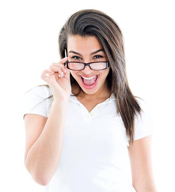 student abheben ihre gläser - geek t shirts stock-fotos und bilder