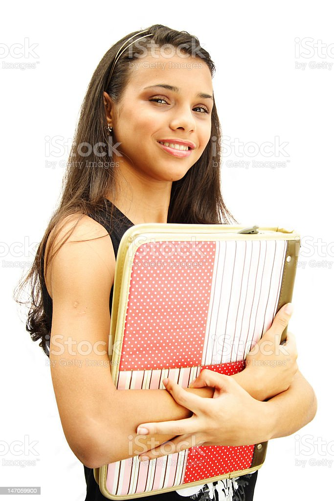 Student teenage girl royalty-free stock photo