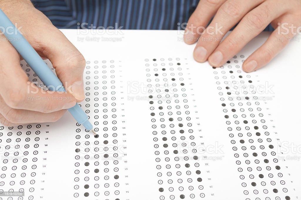 Student test (exam) royalty-free stock photo