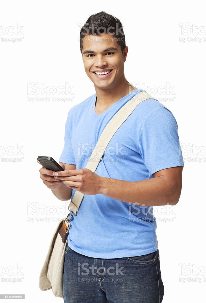 Student Texting on a Cellphone royalty-free stock photo