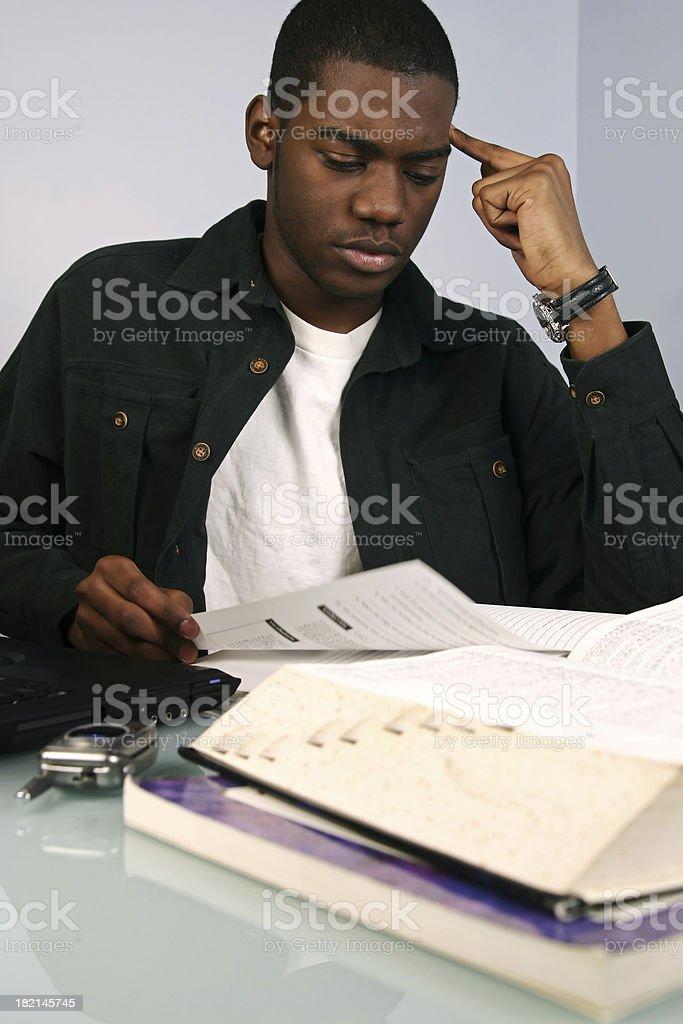 Student Thinking stock photo