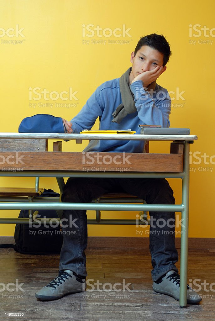 student tired stock photo