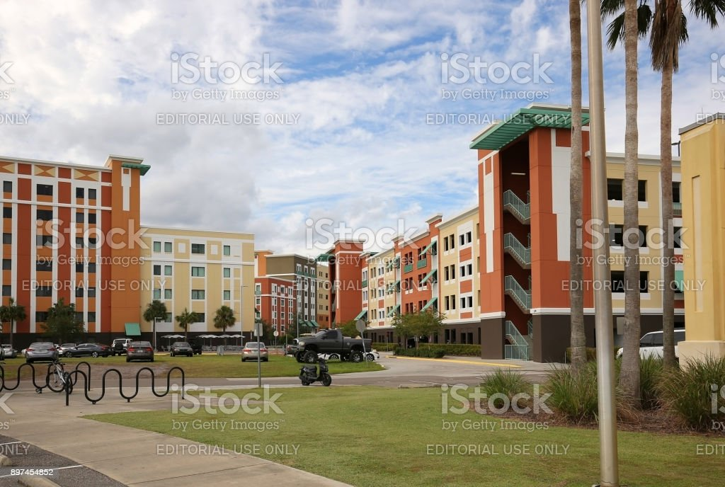 Student Tower Apartments on the University of Central Florida's campus. stock photo