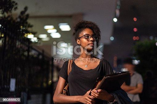 istock Student University Walking in the Street at Night 960888820