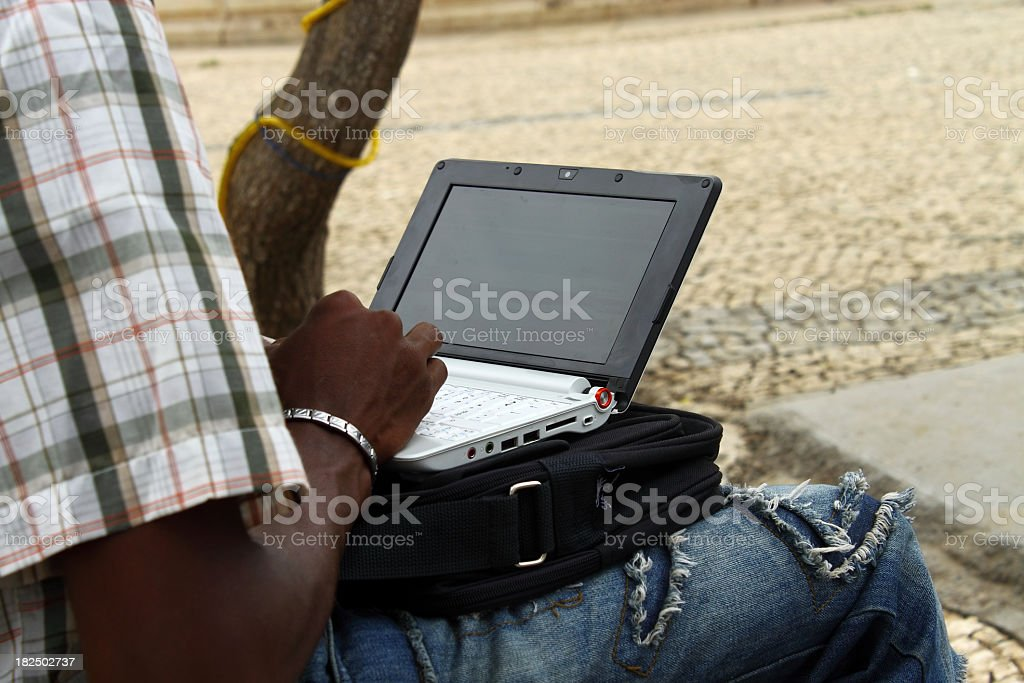 Student  using laptop royalty-free stock photo