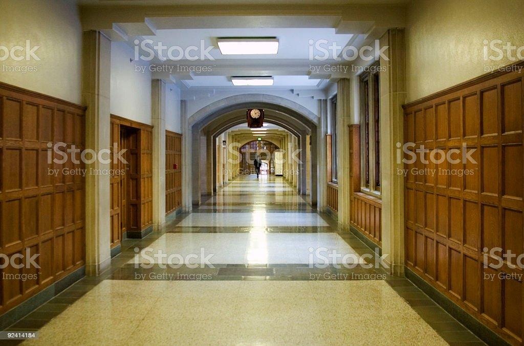 Student Walking the Hallowed Halls stock photo