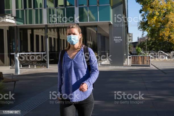 Student wearing mask leaving library building picture id1225961921?b=1&k=6&m=1225961921&s=612x612&h=qlmiwqi gjjhx yhrouvjtb8amsbqfurzidt21qa8qe=