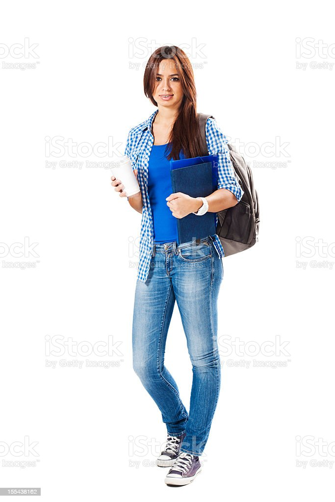 Student with coffee royalty-free stock photo