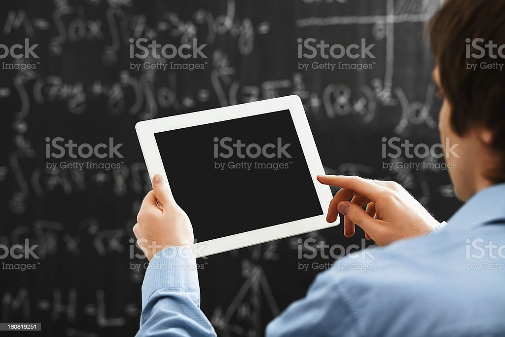 Student with digital tablet royalty-free stock photo