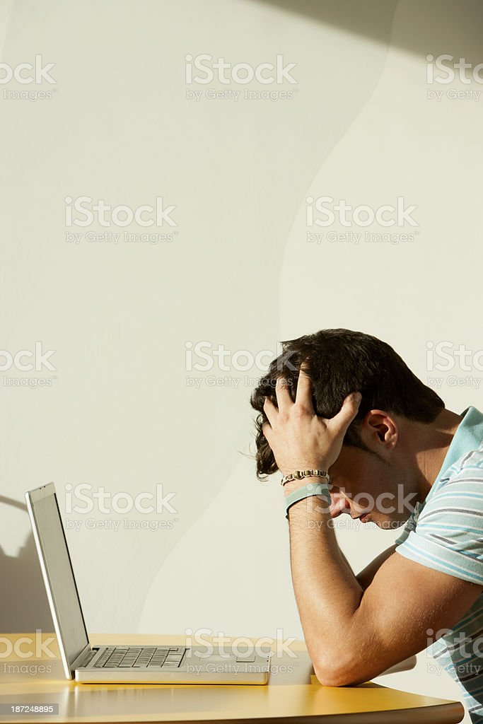 Student With Laptop royalty-free stock photo