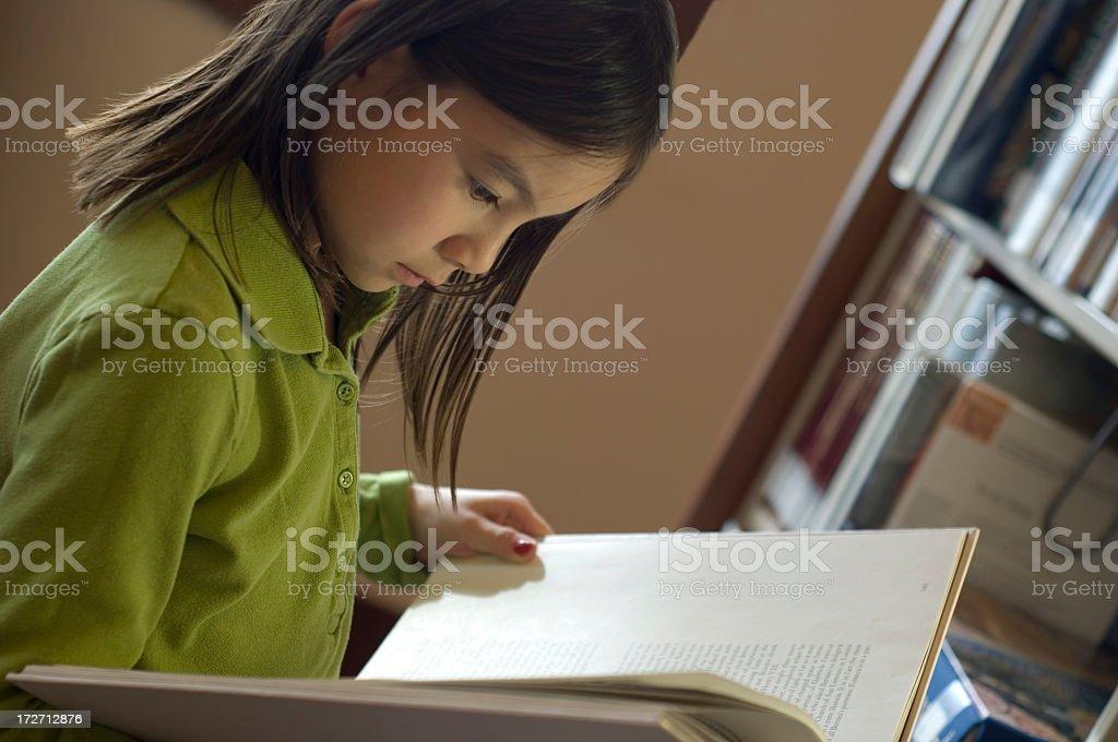 Student With Library Book royalty-free stock photo