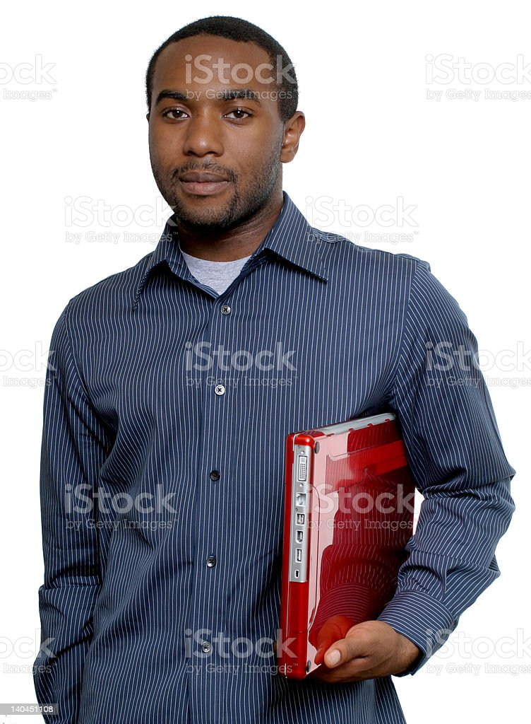 student with red iBook stock photo