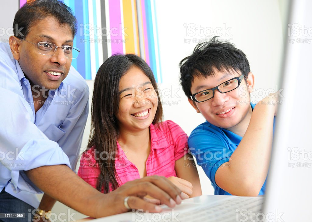 Students and Teacher royalty-free stock photo