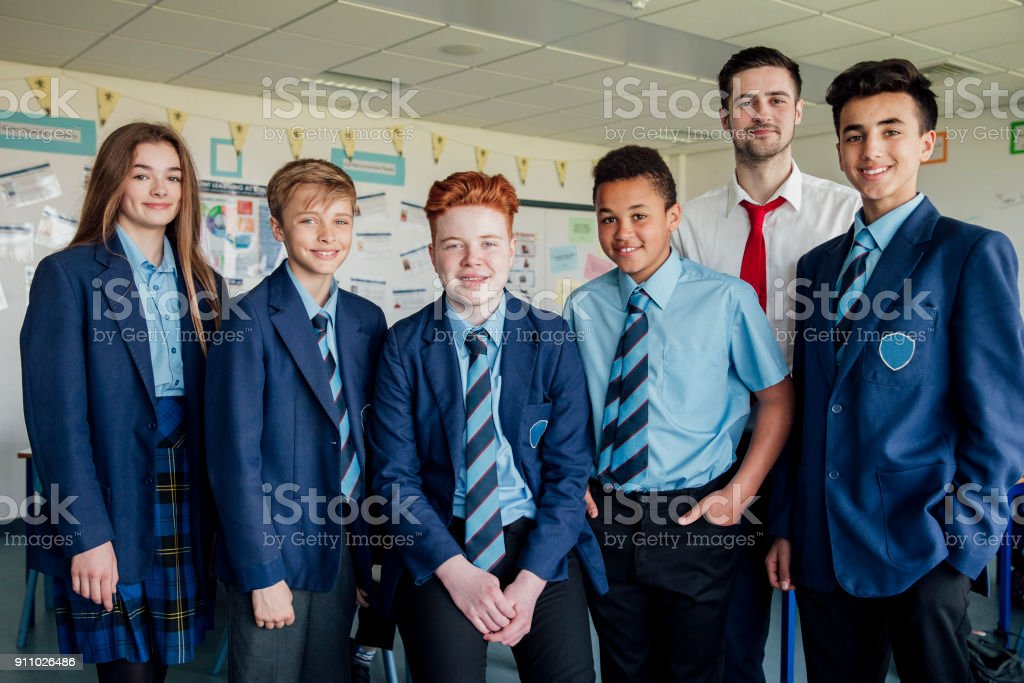 Students and Teacher stock photo