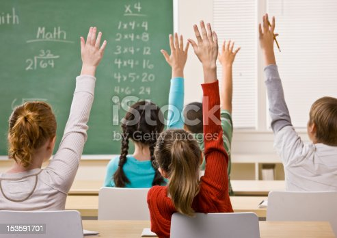 istock Students Answering Teacher Question 153591701
