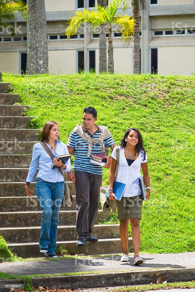 Students at a Campus royalty-free stock photo