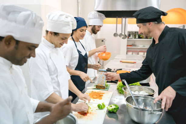 Students at a culinary institute learning how to cook and chef them picture id875992106?b=1&k=6&m=875992106&s=612x612&w=0&h=3vnkogs0cus ugmilk8nl7nqm7lcr5aad07hthpk ti=