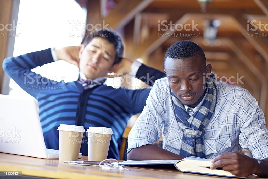 Students at cafe royalty-free stock photo