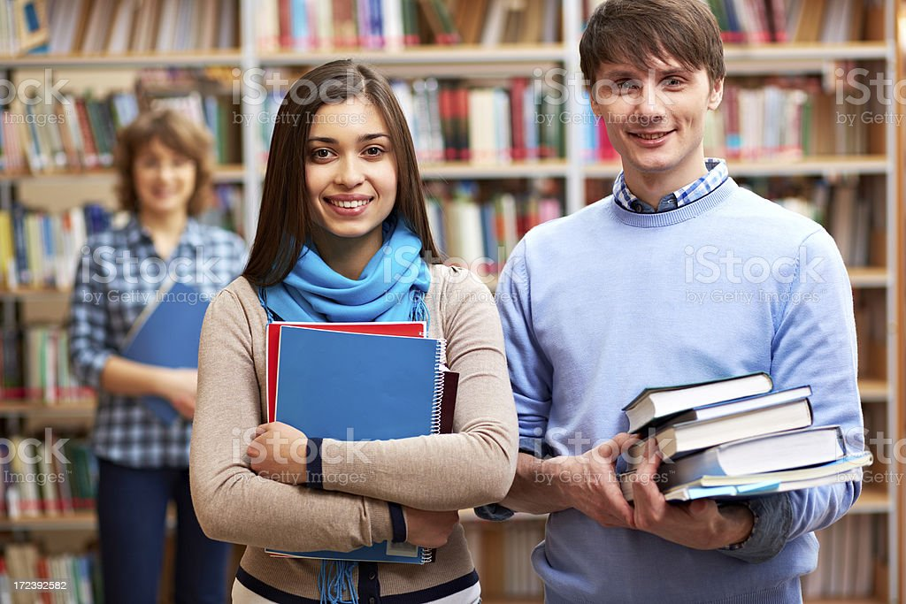 Students at college royalty-free stock photo
