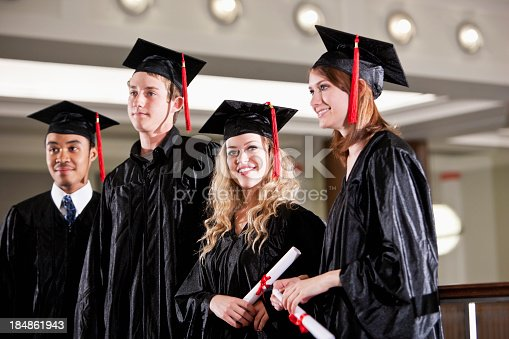 istock Students at graduation 184861943