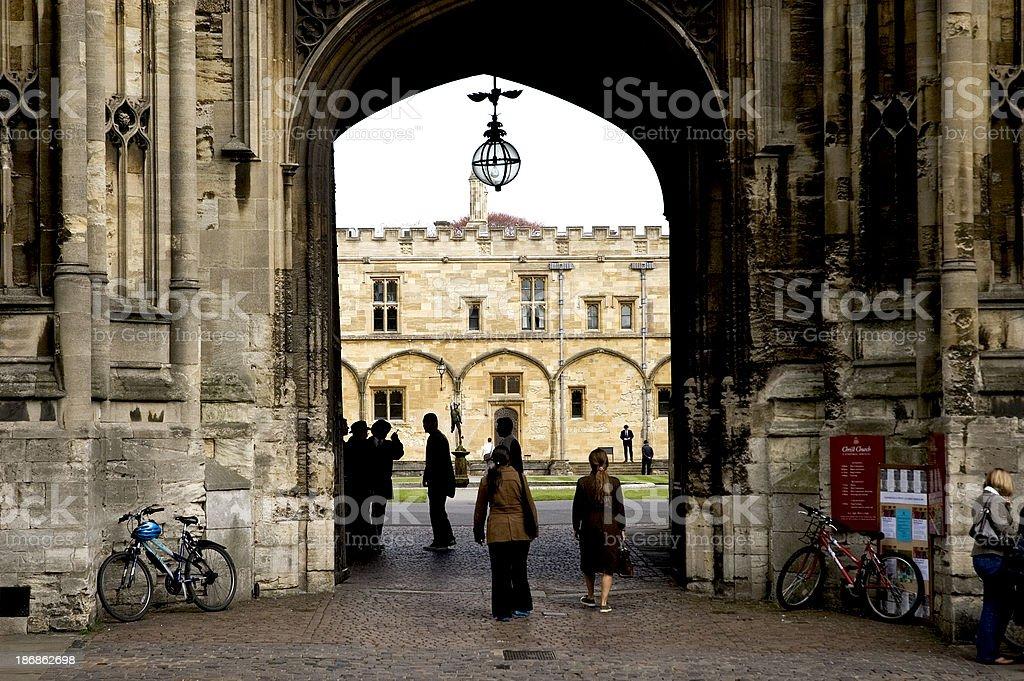 Students at Oxford University royalty-free stock photo