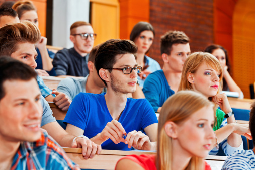 Students At The Lecture Stock Photo - Download Image Now